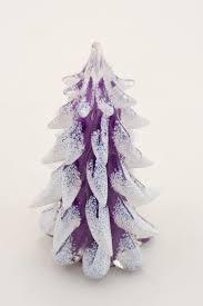 purple glass snow covered tree world glass