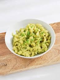 cuisine a et z vegan egg spaetzle with a avocado sauce elephantastic vegan