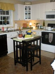 Furniture For Kitchens Furniture Movable Kitchen Island With Shelves And Black Top For