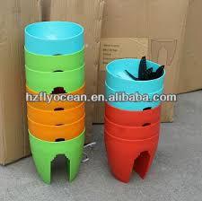 plastic self watering planter balcony flower pot rail plant pot