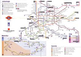 Metro Madrid Map by Madrid Metro 2004 Full Size