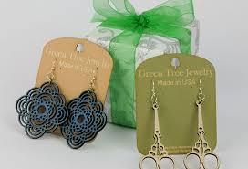 green tree earrings threadh gifts green tree earrings thread fabrics