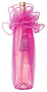 gift wrapping wine bottles organza fabric fuchsia gift wine bottle organza wrapping stpch 010