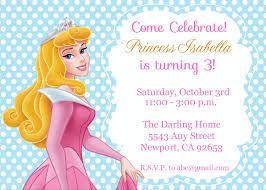 princess aurora sleeping beauty invitation kid u0027s birthday