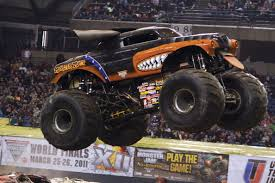 grave digger monster truck driver rod schmidt lets the new monster mutt rottweiler off its leash