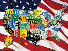 License Plate Map Purchase Usa License Plate Maps By Design Turnpike Design