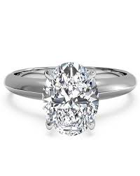 solitaire oval engagement rings oval engagement rings