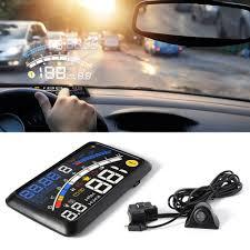 universal car hud head up display obd2 speedometer projector speed