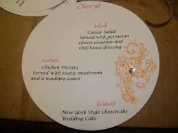 Diy Wedding Menu Cards Diy Circle Menu Cards Weddingbee Photo Gallery