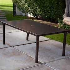 Rectangle Patio Dining Table Coral Coast 74 X 42 In Rectangle Aluminum Slat Top Patio Dining