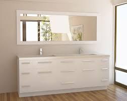 white bathroom vanity and powder space traba homes