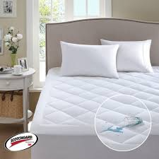 home design waterproof mattress pad comfort classics 3m scotchgard harmony waterproof mattress pad in