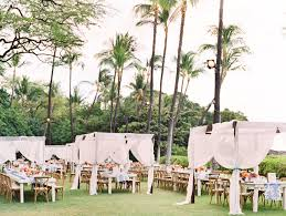 table and chair rentals big island a big island hawaii wedding all about color resorts linen rentals