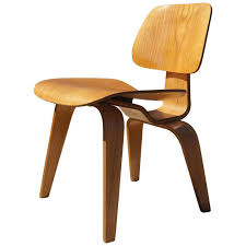 Vintage Wooden Chair Vintage Oak Dcw Dining Chair By Eames For Herman Miller For Sale