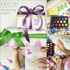 kids wrapping paper diy kids birthday wrapping paper satsuma designs
