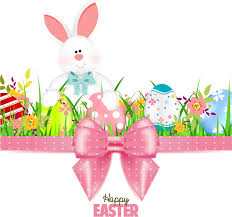 easter ribbon bunny with easter card template and ribbon bow vector 04 vector