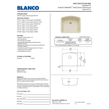 Blanco 440180 by Blanco 440175 Diamond White Undermount Single Bowl Kitchen Sinks