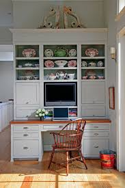 Kitchen Desk With Hutch Computer Desk Hutch Kitchen Traditional With Beadboard Backing
