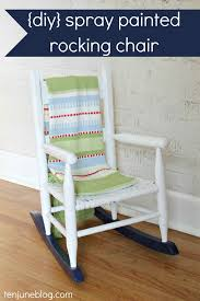 Nursery Rocking Chair Cheap Ten June Multi Colored Spray Painted Rocking Chair A Nursery Diy