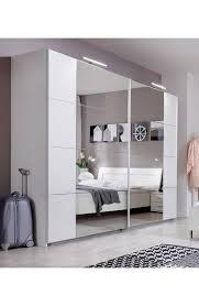 German Modern Furniture by Slumberhaus U0027davos U0027 German Made Modern White U0026 Mirror Sliding Door