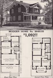 craftsman style home floor plans modern home 264b155 two story craftsman style bungalow 1916