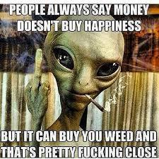 Stoned Alien Meme - stoner memes
