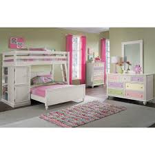 Full Bedroom Colorworks Loft Bed With Full Bed White Value City Furniture