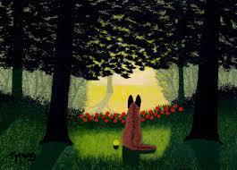 belgian shepherd victoria australia belgian malinois dog folk art print by todd young forest light