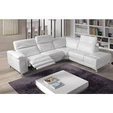 canape relax cuir blanc canapé d angle relax électrique cuir blanc tudor angle droit
