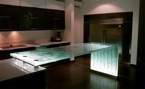 glass kitchen island glass countertops kitchen green living use recycled countertops