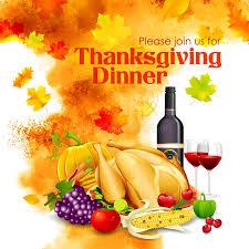 happy thanksgiving dinner celebration stock vector image 62427587