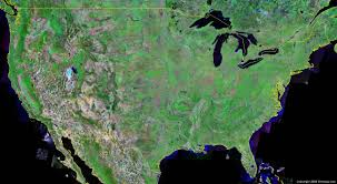 United States Map With Rivers Lakes And Mountains by United States Map And Satellite Image