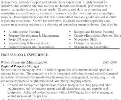 resume property manager resume sample property maintenance