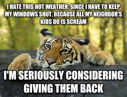 Hot Weather Meme - livememe com terrible twist tiger