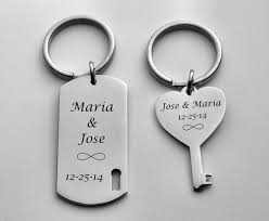His And Hers Dog Tags Personalized Silver His And Hers Couples Dog Tag And Heart U0026 Key