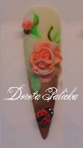 3d 4d acrylic nail art rose design step by step by dorota palicka