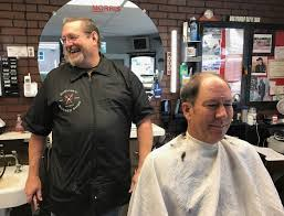 fallen away barber shop customer receives a warm welcome home
