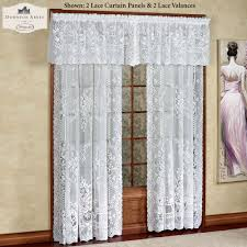 Lace Fabric For Curtains Decorating Lace Curtain Irish Country French Drapes Lace Swag