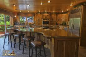 Log Home Kitchen Design Ideas by Golden Eagle Log Homes Floor Plan Details Ponderosa