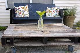 Outdoor Pallet Table Pallet Furniture Recycling Pallets Into Unique Furniture Pieces