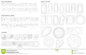 dessiner salle de bain un ensemble d u0027équipement pour la salle de bains cuvette des