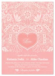 henna invitation wedding invitations pink henna at minted