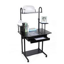 bureau informatique noir songmics bureau informatique table informatique meuble de bureau