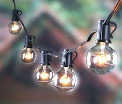 Edison Patio Lights 25ft Outdoor G40 Globe String Lights Vintage Backyard Patio