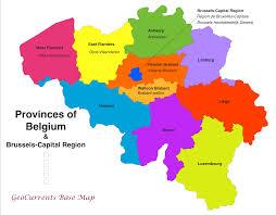 physical map of belgium belgium physical map on a ambear me