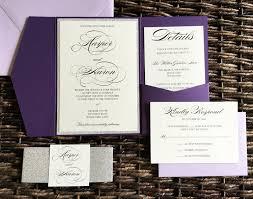 glitter wedding invitations plum and silver glitter wedding invitations with light purple