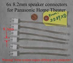 panasonic receivers home theater 6 speaker cable wire connectors 8 2mm made for old panasonic home