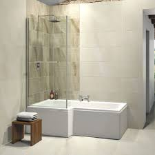 trojan elite l shape left hand shower bath 1675 x 850