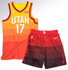 colors of orange new utah jazz uniforms pay homage to utah u0027s sunset and have mixed