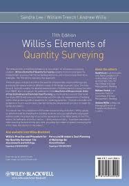 willis u0027s elements of quantity surveying amazon co uk sandra lee